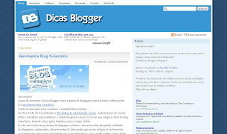 Projeto – Layout -> Dicas Blogger