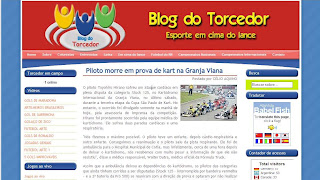 Projeto – Layout -> Blog do Torcedor