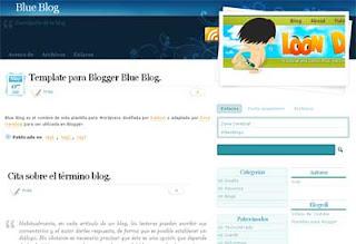 Template Blogger Blue Blog