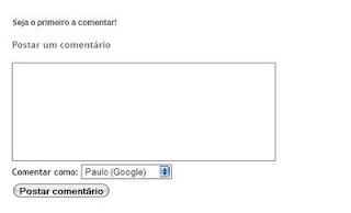 Como colocar formulário de comentários embutido no Blogger