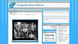 Template Blue Effects – Por Códigos Blog