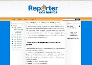 Projeto – Layout -> Repórter dos Bairros