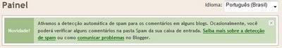 Sistema anti-spam no Blogger