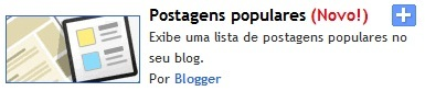 Widgets Postagens Populares no seu blog