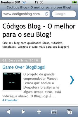 Seu blogger para celular – Versão Oficial!