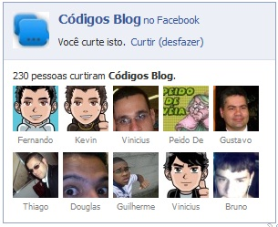 Gadget social de fãs do Facebook