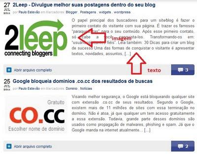 Resumo automático apenas nas postagens para Blogger