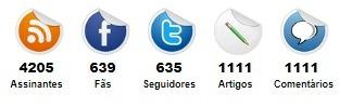 Widget contador de redes sociais, postagens e comentários para Blogger