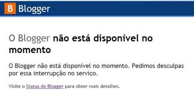 Blogger entra em manutenção dia 10 de Agosto de 2011