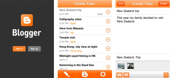 Novidade: Blogger anuncia App para iOS
