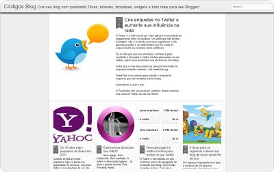 Algumas desvantagens da interface dinâmica do Blogger