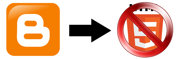O Blogger não está preparado para receber templates em HTML5