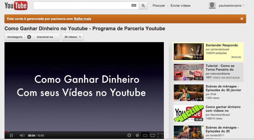 Vídeo da Semana: #002 – Como Ganhar Dinheiro no Youtube
