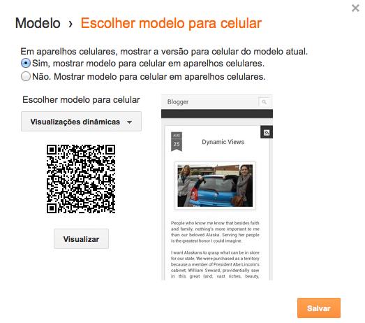 Novidade: Visualizações Dinâmicas no Blogger agora em versão mobile