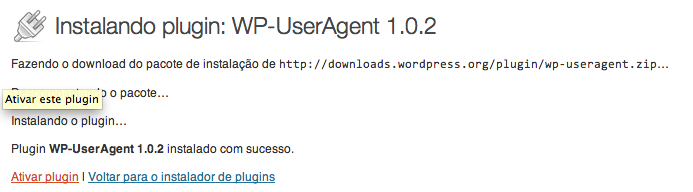 Ativar WP-UserAgent no wordpress