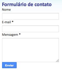 Formulárioi de contato Blogger
