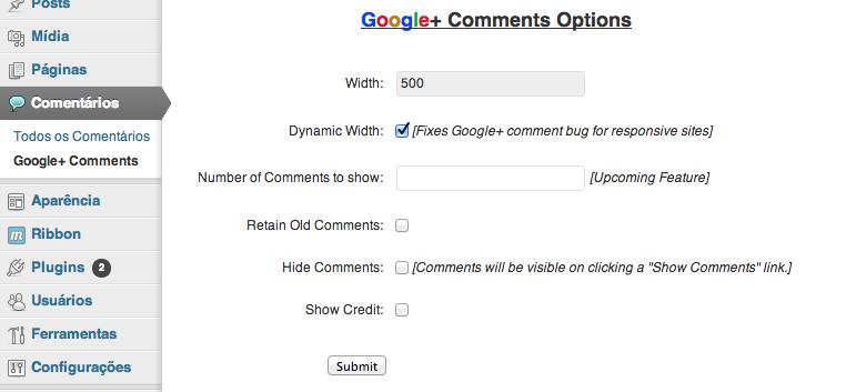 configurar plugin google+ wordpress
