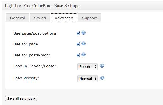 lightbox configuração 2
