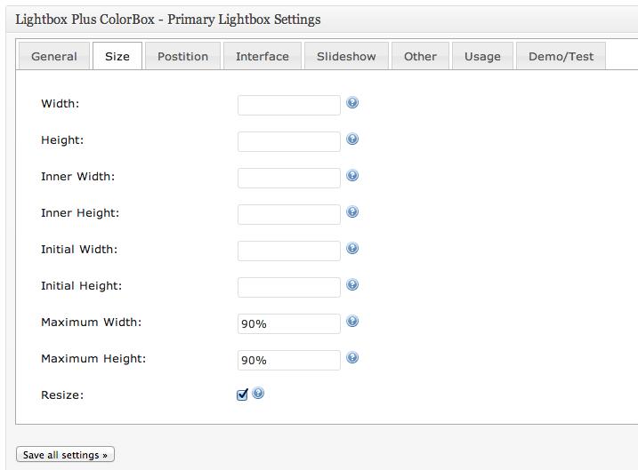 lightbox configuração 4